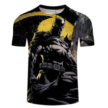 New Fashion Superman Batman Hulk Star Wars 3D T Camicia Degli Uomini di Stile di Estate Del Manicotto Del Bicchierino Casual T-Shirt Supereroe Top Magliette maglietta 6xl(China)