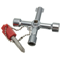 Silver Utility Plumbing Plumbers Key Tool For Meter Box Gas Water Electric Service Tool Stop Cock