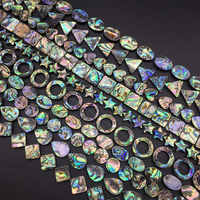 Fashion mixed color A round teardrop-shaped square Natural Abalone Sea Shell Beads for female DIY Jewelry Bracelets Necklaces