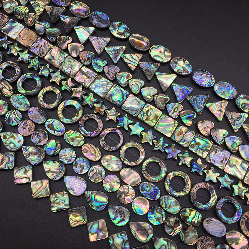 Sea-Shell-Beads Bracelets Necklaces Jewelry Abalone Square Teardrop-Shaped Natural Round title=