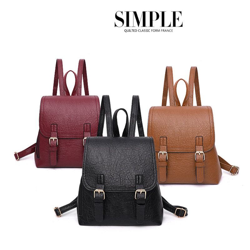 Backpacks For Female New Fashion Casual Leather Bags Trend Girl School Bags Quality Female Backpack Travel bag Black Red Yellow 2017 new girl backpack mini high quality girl student casual female bags woman shoulder bag backpacks fashion female bag