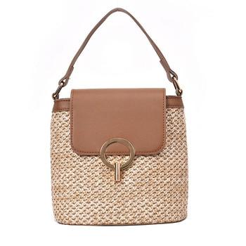Small Straw Bucket Crossbody Bag 5