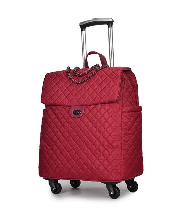 Sac à bagages portable chariot de voyage sacs sur roues bagage roulant femme sac à main Trolley valise sacs à main sac à dos de voyage