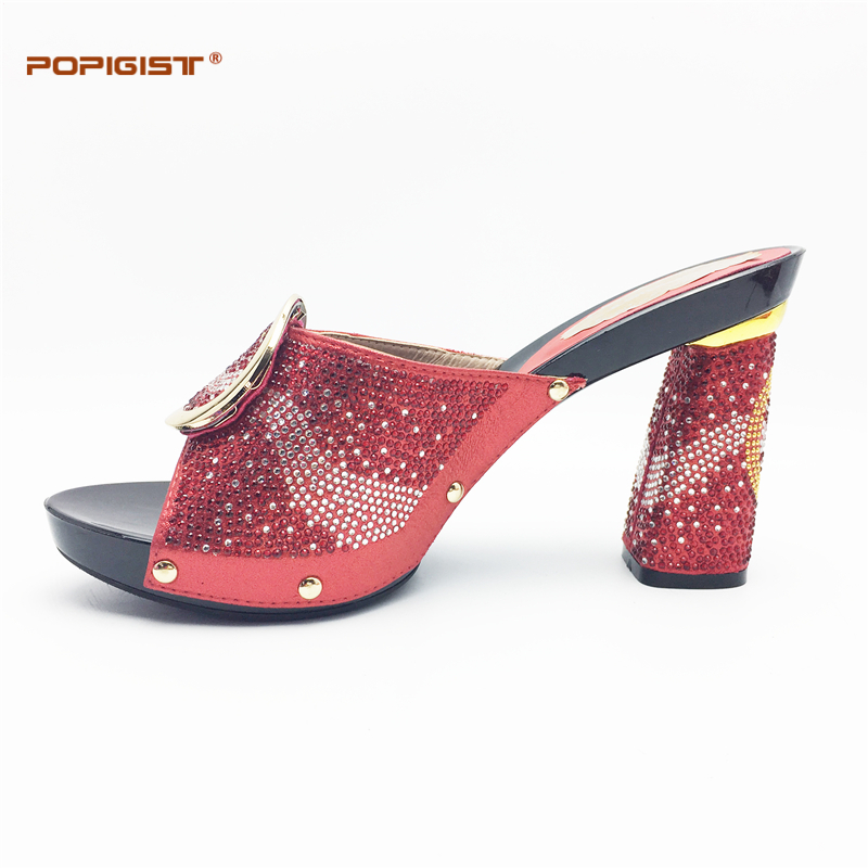 b4b6d5ccc57 Ladies Shoes red color good quality Fashion design with Rhinestone ...