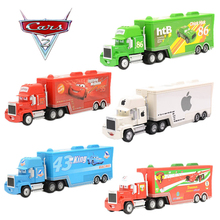Cars 3 Toys 2pcs Lightning McQueen Diecast 1:18 Metal Alloy Modle FiguresKids Toy Transporter Truck Boy Educational oyuncak