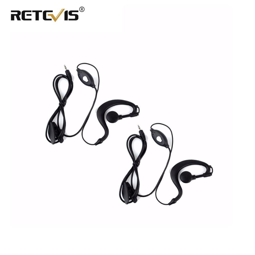 2pcs Kids Radio Earpiece 1-Pin PTT MIC Headphone For Retevis RT388 RT628 RT31 RT32 RT35 Mini Walkie Talkie Accessories J9109A