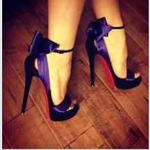 Padegao high heels sandalen für frauen dame sandalen lila seide jäten partei schuhe mund p [lus größe sandalen