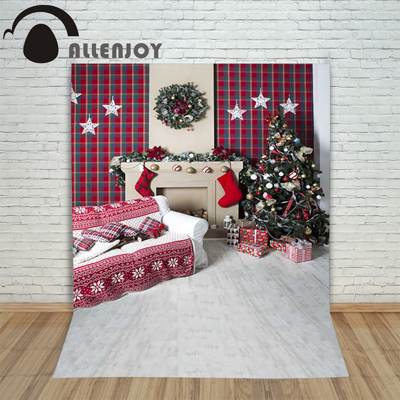 Background photography studio Christmas Wooden fireplace xmas stockings background for photo shoots vinyl photographic new year