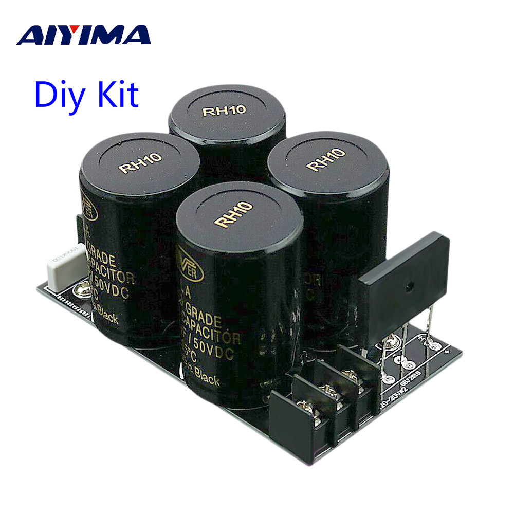 Aiyima 35A Rectifier filter Board 10000uf/50V AC to DC Audio Amplifier Supply Power Board Diy Kits For 3886 7293 Amplifier DIY цена