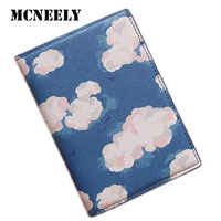 Cloud Pattern Women Passport Cover Travel Accessories PU Passport Protector With Bank ID Card Holder Case Gifts for Kids Women