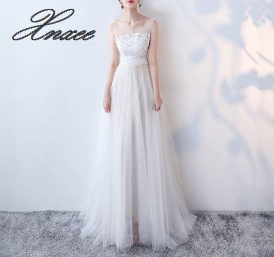Weiß schulter lange kleid weibliche 2019 neue elegante elegante party kleid dünne spitze-in Kleider aus Damenbekleidung bei  Gruppe 1