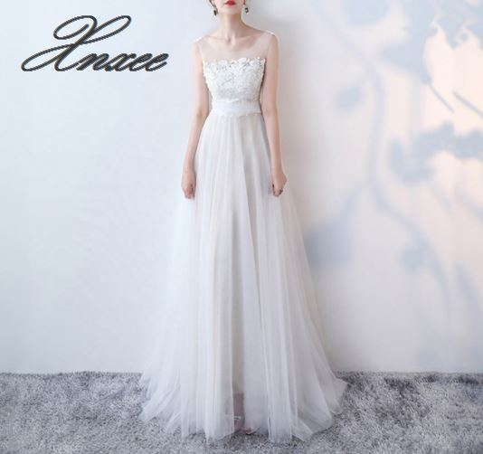 White shoulder long dress female 2019 new elegant party slim lace