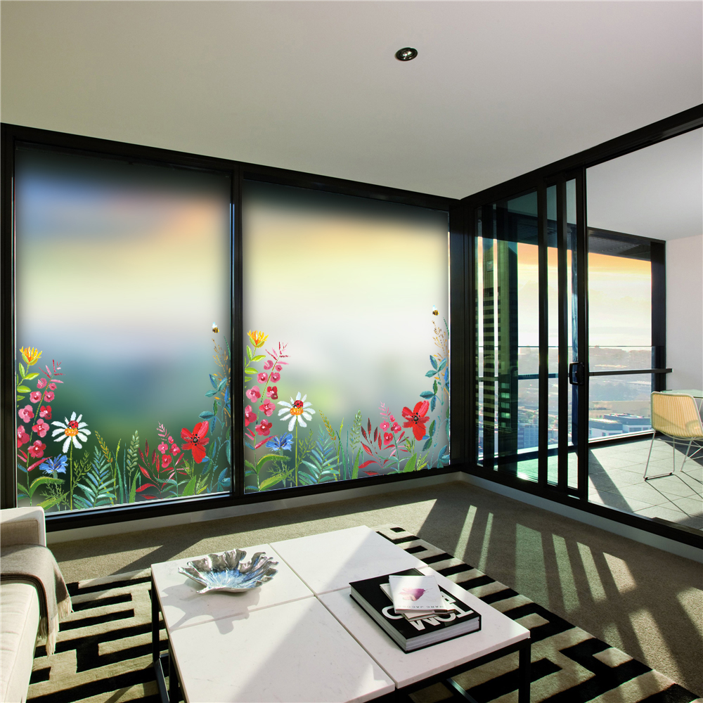 Translucent Window Film Us 3 99 Flower Window Film Frosted Glass Sliding Door Bathroom Window Wall Glass Stickers Translucent Opaque Self Adhesive Film Aa40 In Wall
