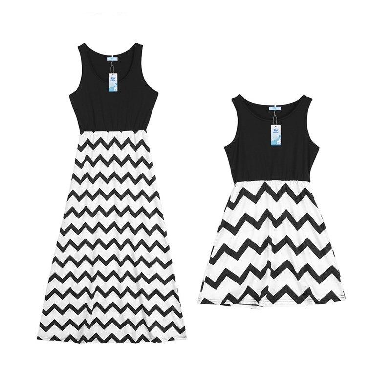 2018 летние платья для мам и дочек мама и я Повседневное в полоску в стиле бохо Макси платье «Мама и я», «комплект наряды ...