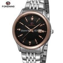 FSG8088Q4T4 новое прибытие кварцевые браслет из нержавеющей стали классические мужские черный цвет часы с оригинальным подарочной коробке бесплатная доставка