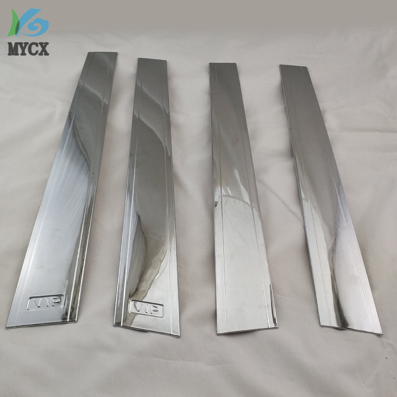4PCS ABS Chrome PILLAR COVER CAR Accessories FOR Toyota Corolla 2001 FIELDER 2005-2012 PROBOX SUCCEED(China)