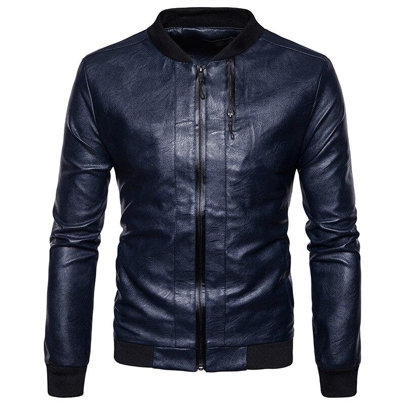 Для мужчин Мода Досуг Кожаная куртка Высокое качество творческой осенние и зимние новый стиль Для мужчин индивидуальность пальто с мехом к...