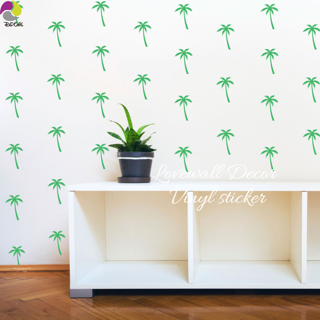 Palm Tree Wall Sticker Baby Nursery Kids Room Summer Beach Plant Wall Decal  Bedroom School Classroom