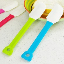 Mini Kitchen Food Spatulas Salad Cake Toast Baking Silicone Plastic Scraper Bakeware Utensil 1Piece K227