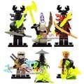 Decool ninja minifigs fija bloques juguetes yang gereral kozu echo o zane pythor piedra gigante guerrero kai g