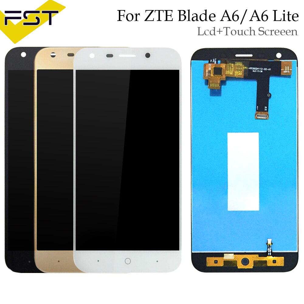 Schwarz/Weiß Für ZTE Klinge A6/A6 Lite LCD Display und Touch Screen Reparatur Teile Mit Werkzeuge + Adhesive Für ZTE Klinge A0620