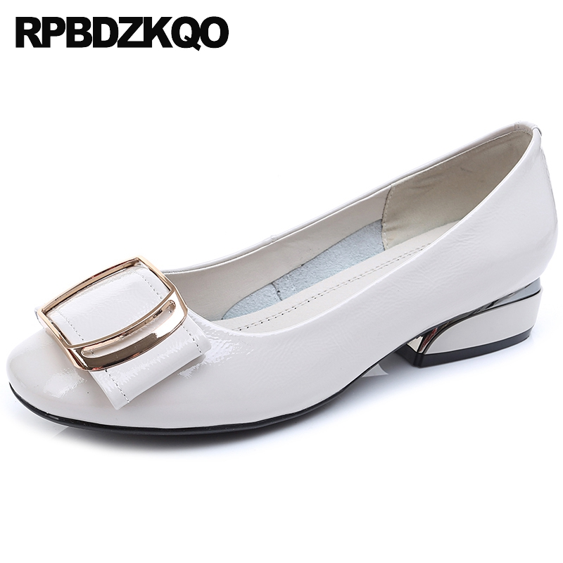 beautiful white women 10 wide fit shoes ladies black round toe brand 2019 custom metal chinese designer large size slip on china