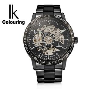 Image 4 - IKColouring Vàng Luxury Xem Mens Automatic Watch Skeleton Cơ Đồng Hồ Đeo Tay Fashion Casual Thép Không Gỉ Relogio Masculino