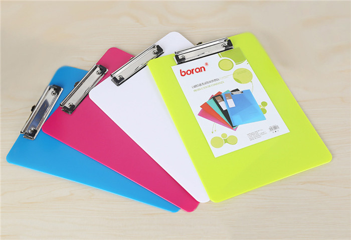 100pcs Back To School Best Price A5 Clip Board Writing-board Files With Clip Pen Holder Office Student Stationery Supplies Good