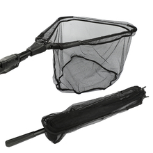 Goture Aluminum Folding Fishing Net Different Size Landing Net With Extending Telescoping Pole Multifilament Hand Net