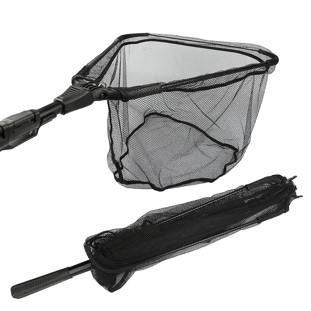 Prix pour Goture En Aluminium Pliage De Pêche Net Épuisette Avec L'extension Télescopique Pôle Multifilament Main Réseau pour la Pêche