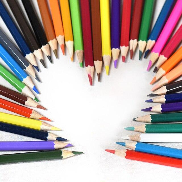 364 18 De Réductionnon Toxique Dessin Bois Coloriage Crayons De Couleur Ensemble Peinture Papeterie Professionnel Crayons De Couleur 12182426