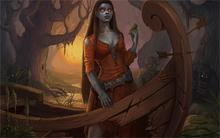 Dark Supernatural beings Boats Fantasy Girls dark demon creatures creature 4 Sizes Home Decor Canvas Poster Print
