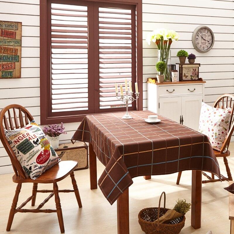 Aliexpress.com : Buy Modern Brown Plaid Rectangular Table