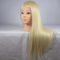 100 High Temperature Hair Fiber Practice Cutting Hairdressing Training Mannequin Head With Hair