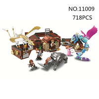 bela 11009 718pcs Movie Harry series Newt's magic suitcase. Building Blocks bricks baby toys children chrismas gift