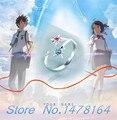New Anime Your Name.Kimi no Na wa taki Miyamizu Mitsuha Ring Lovers Uniex 925 Steering Silver Rings Cosplay Free shipping