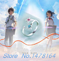 Novo Anime Seu Nome. wa Kimi no Nd taki Miyamizu Mitsuha Anel Amantes Uniex 925 Direção Anéis de Prata Cosplay frete grátis
