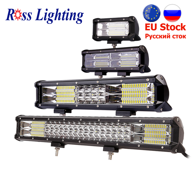 9-34inch Off Road LED Light Bar Work Lamp 288W 324W for Auto LED Bar Tractor Boat 4WD 4x4 Truck SUV ATV Combo Beam Driving Lamp