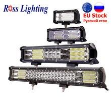 Barra de luz LED de 9 34 pulgadas para todoterreno, lámpara de trabajo, 288W, 324W, barra de luz LED automática para Tractor, barco, 4WD, 4x4, camión, SUV, ATV