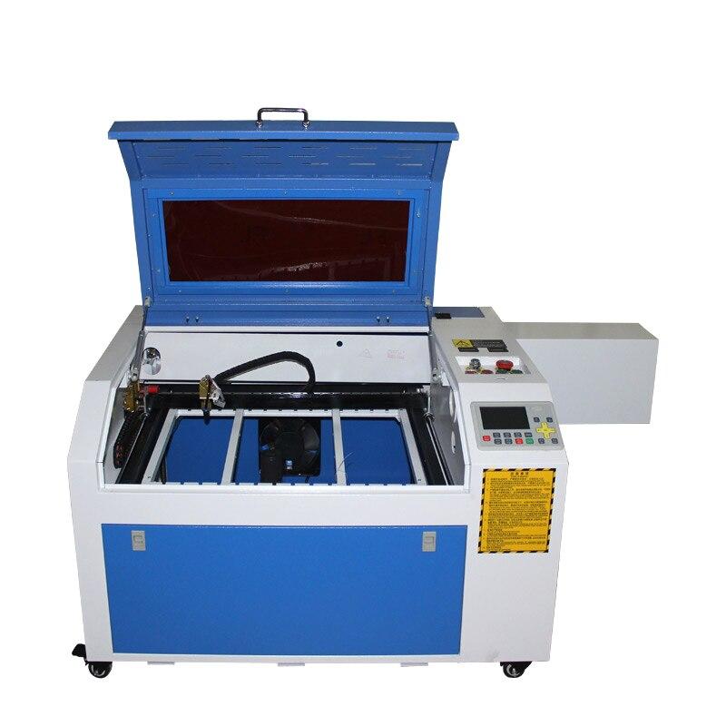 Pulpit laser 6040 4060 PRO 80W USB oś obrotowa CO2 laserowa maszyna do grawerowania metalu z systemem off-line