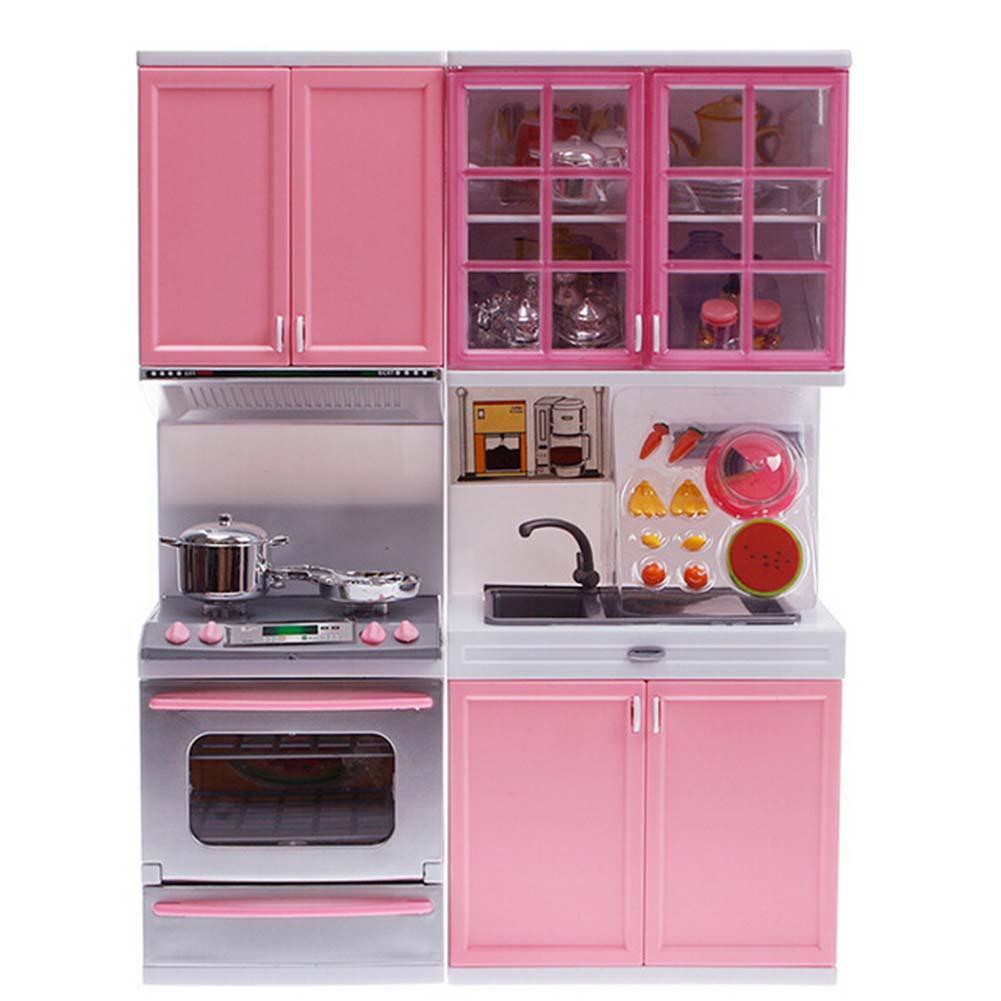 rosa venta kid fun de juguete juego de simulacin de cocina cocinero de cocina gabinete cocina
