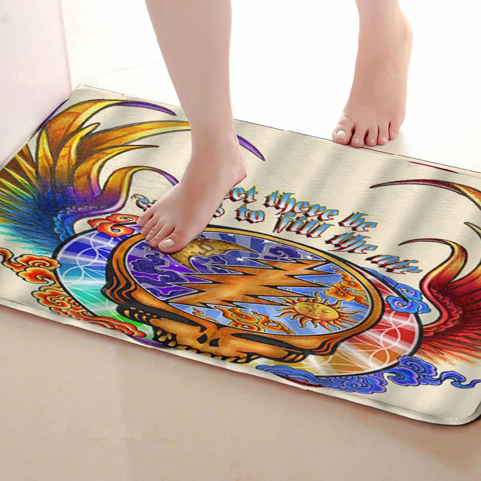 Wing Style Bathroom Mat,Funny Anti Skid Bath Mat,Shower Curtains Accessories,Matching Your Shower Curtain