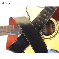 disado 2 Colors Acoustic Bass Electric Guitar Strap Soft leather Corium guitar accessories parts wholesale Musical instrument