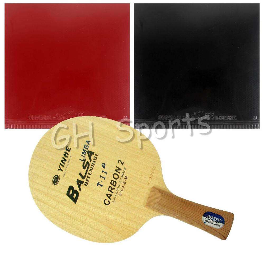 Pro Table Tennis Racket YINHE Galaxy T-11+ Blade with 2x Globe 999 Supply China National Team Rubbers Shakehand long handle FL pro table tennis pingpong combo racket globe 522 with globe 999t japanese sponge and 999 999t shakehand long handle fl