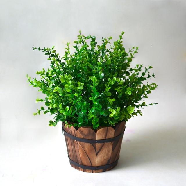 7 branch plastic fern plants wedding home furniture decor garden Artificial Ornamental Plants