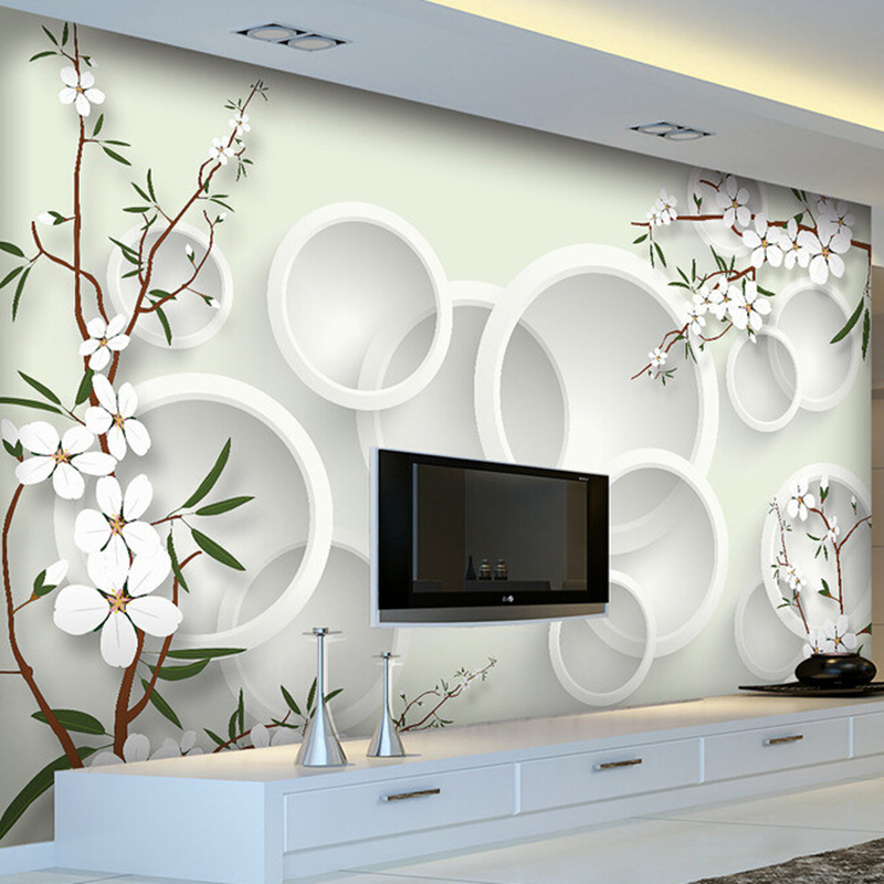 Custom 3D wallpaper. Elegant fresh flowers murals for the living room bedroom TV background wall vinyl wallpaper blue earth cosmic sky zenith living room ceiling murals 3d wallpaper the living room bedroom study paper 3d wallpaper
