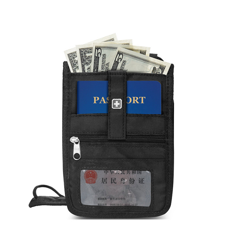 Swiss Passport Wallet Anti-theft Security Travel Wallet For Men and Women Neck Pouch for drivers license Boarding Pass Holder