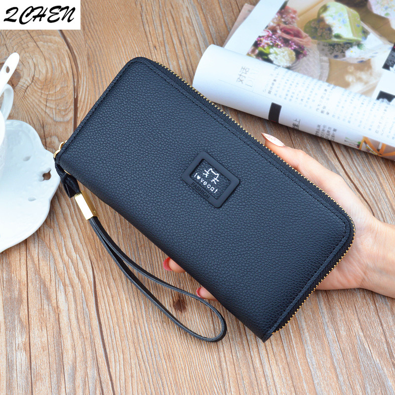 Woman's Long Wallet Purses Fashion Hollow Coin Purse Card Holder Female Women Love Cat Clutch Money Bag PU Leather Wallet  558