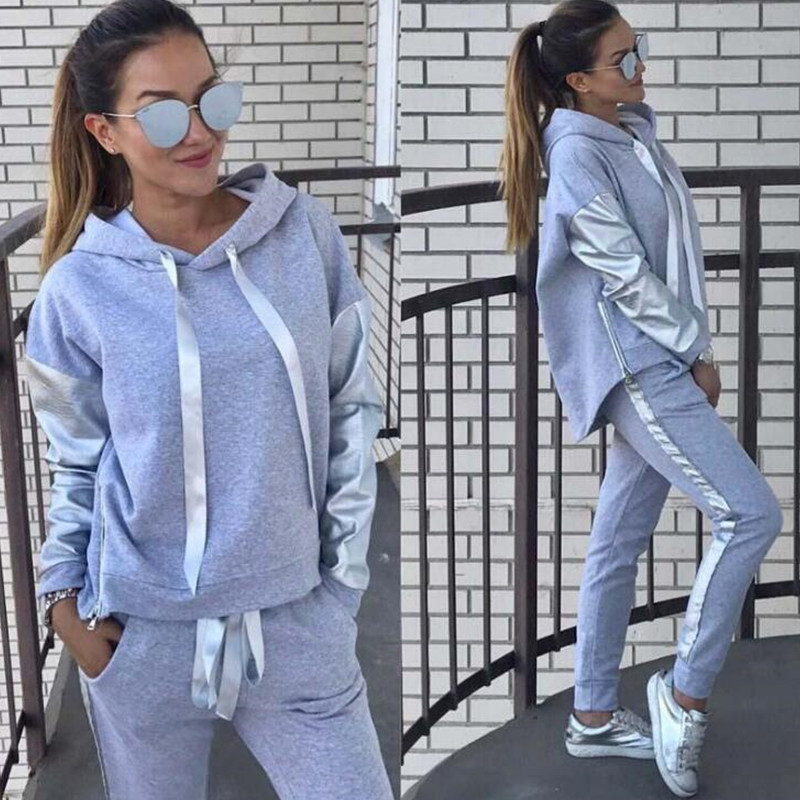 Casual Tracksuit Women Autumn Set 2019 Two Piece Set Long Sleeve Hoodies Pullover Pants Set Sportwear Tracksuits Outfit