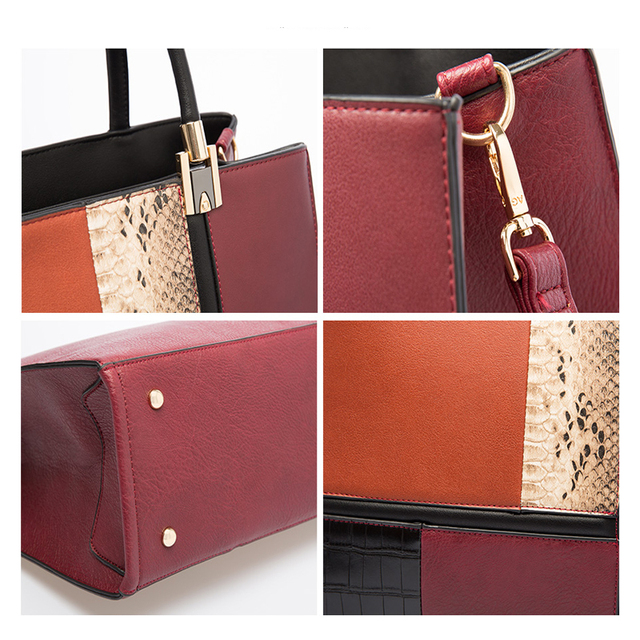 AMELIE GALANTI 2018 New Autumn and Winter Women Bag Stitching Fashion Ladies Handbag Luxury Female Bags for Woman Crossbody Bags Top-Handle Bags